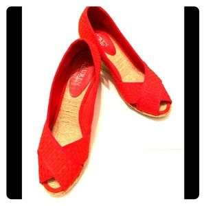 Ralph Lauren Shoes Size 8 B Red Wedge